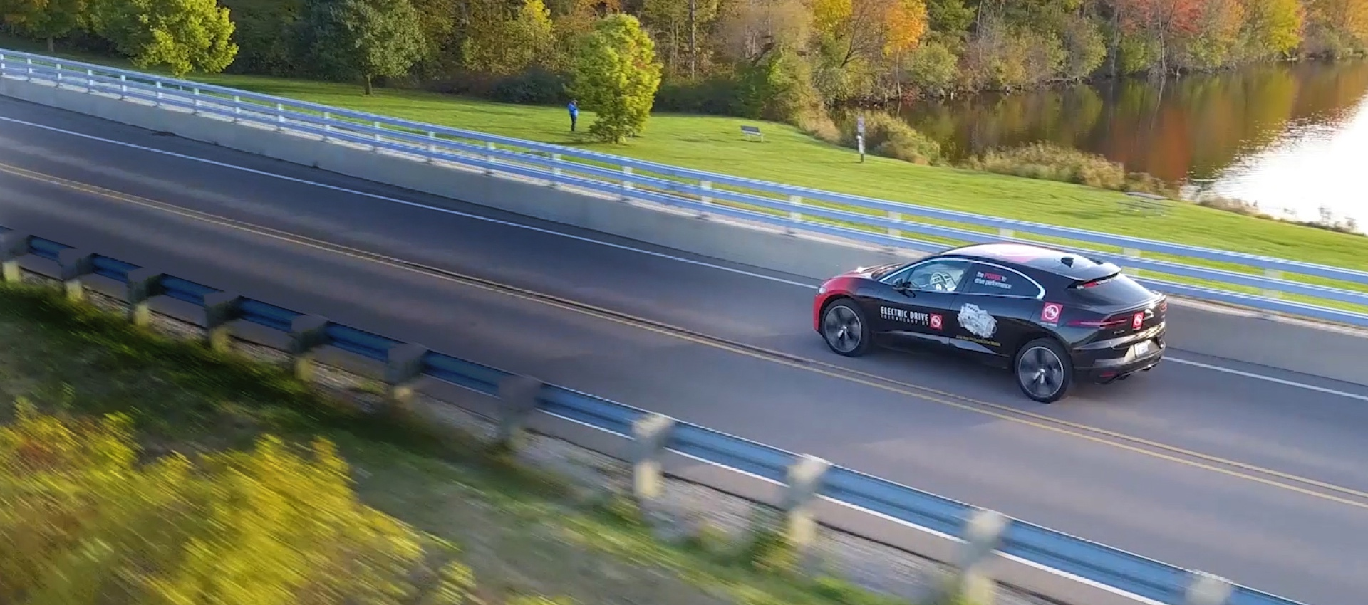 Jaguar iPace on road