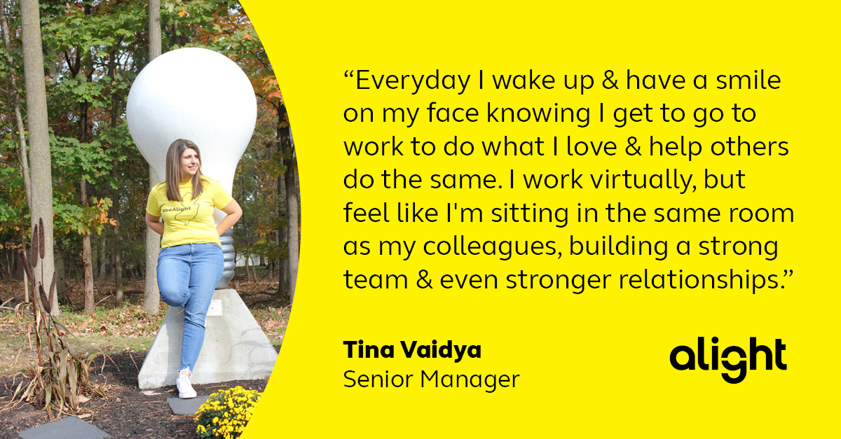 Colleague testimonial - Tina Vaidya