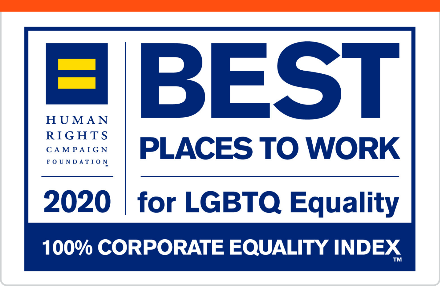 Best Places to Work 2020 for LGBTQ Equality by the Corporate Equality Index