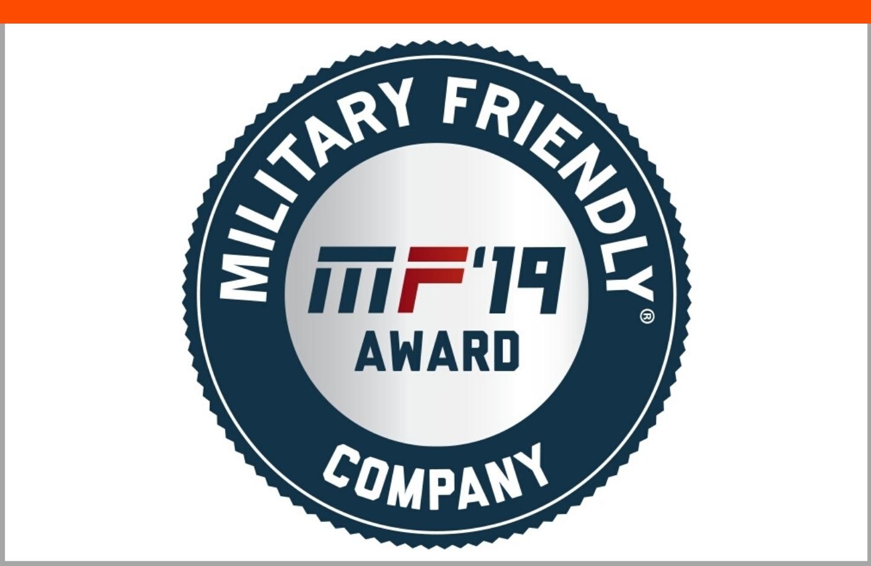 Military Friendly Company 2019 Award