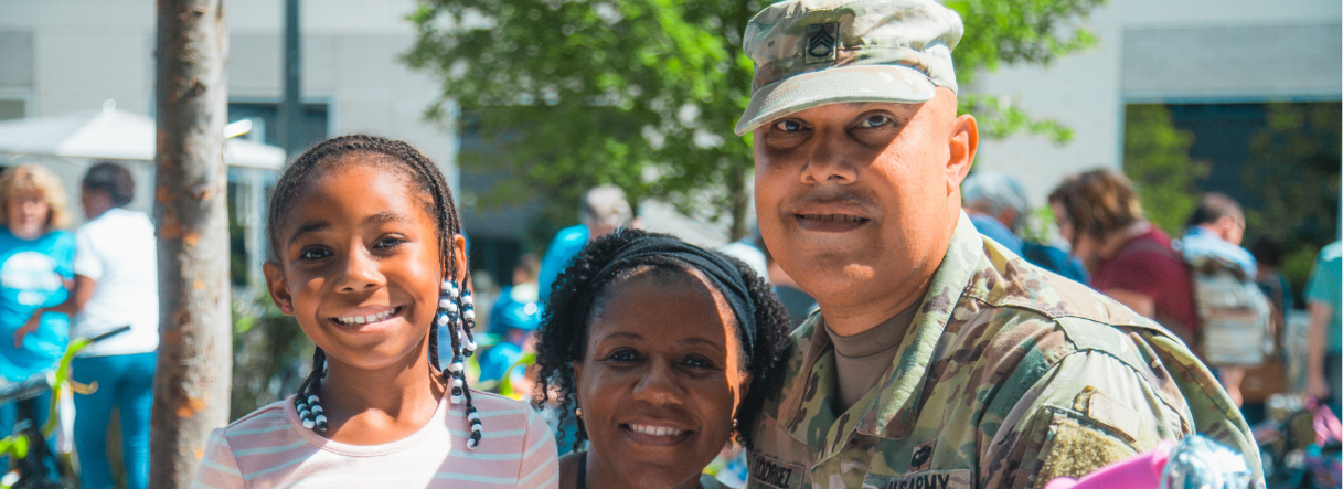 Veteran and his family, explore careers at Blue Cross NC