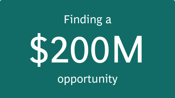 Finding a $200,000,000 opportunity