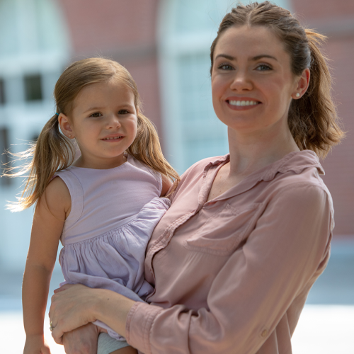 Benefits - Working Mom and Daughter