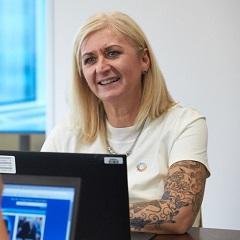 Employee Samantha Wheeler.