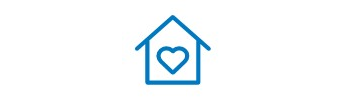 An icon of a house with a heart.