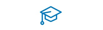 An icon of a graduation hat.
