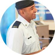 Man in military attire