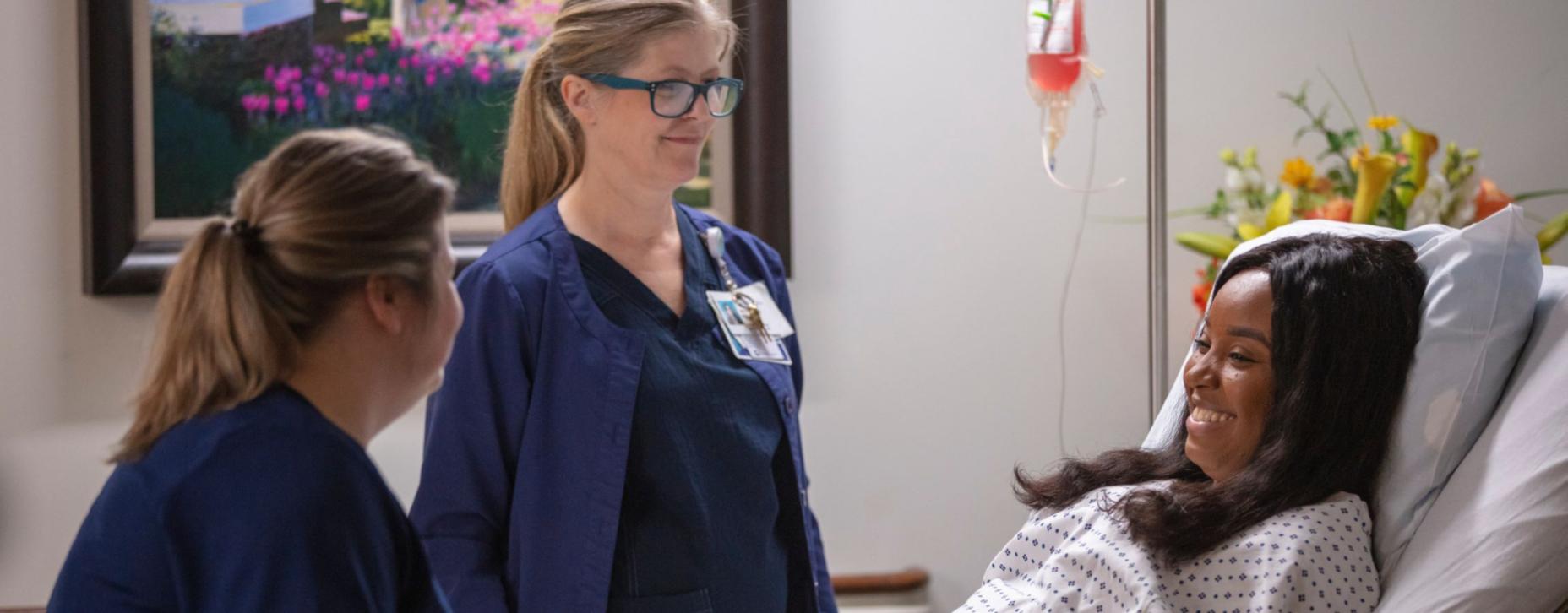 nurses around patient