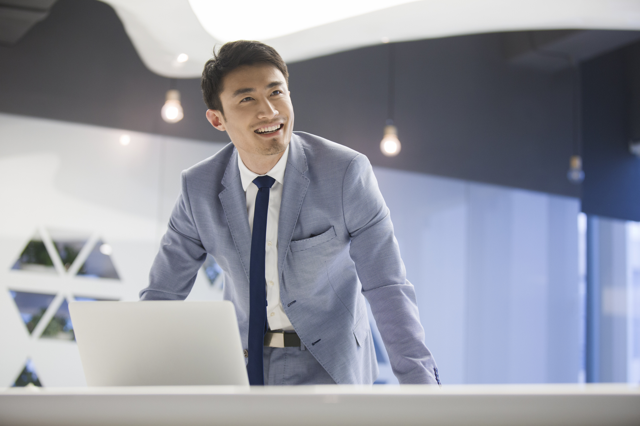 professional man with laptop
