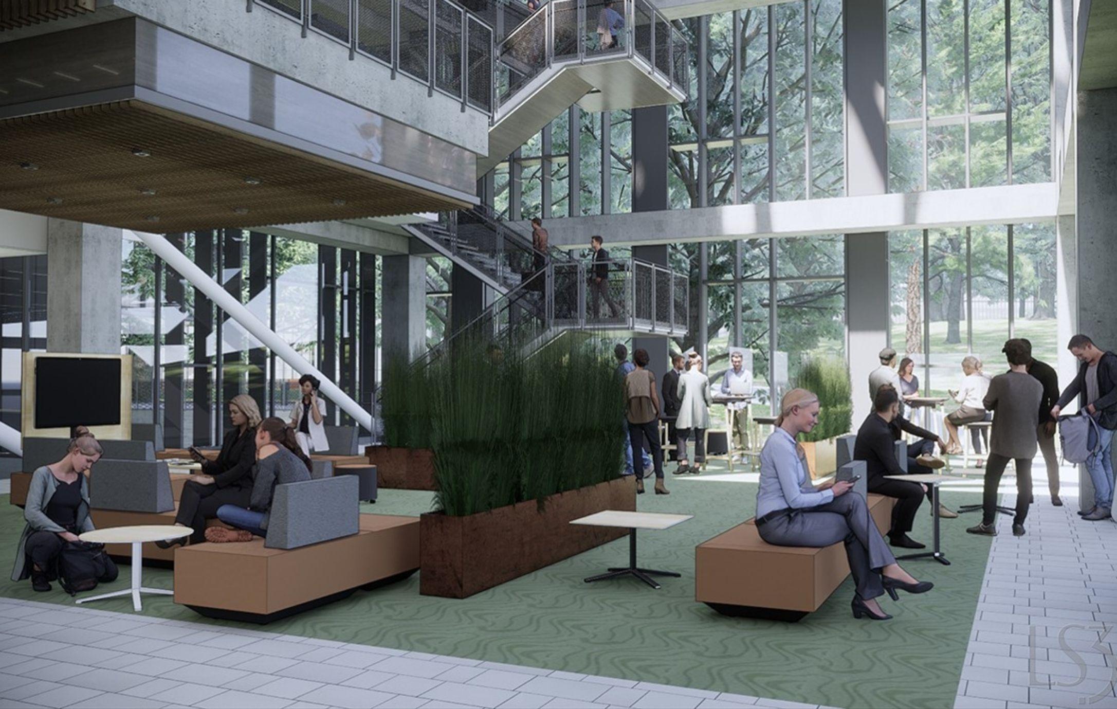Inside Atrium Lobby EC