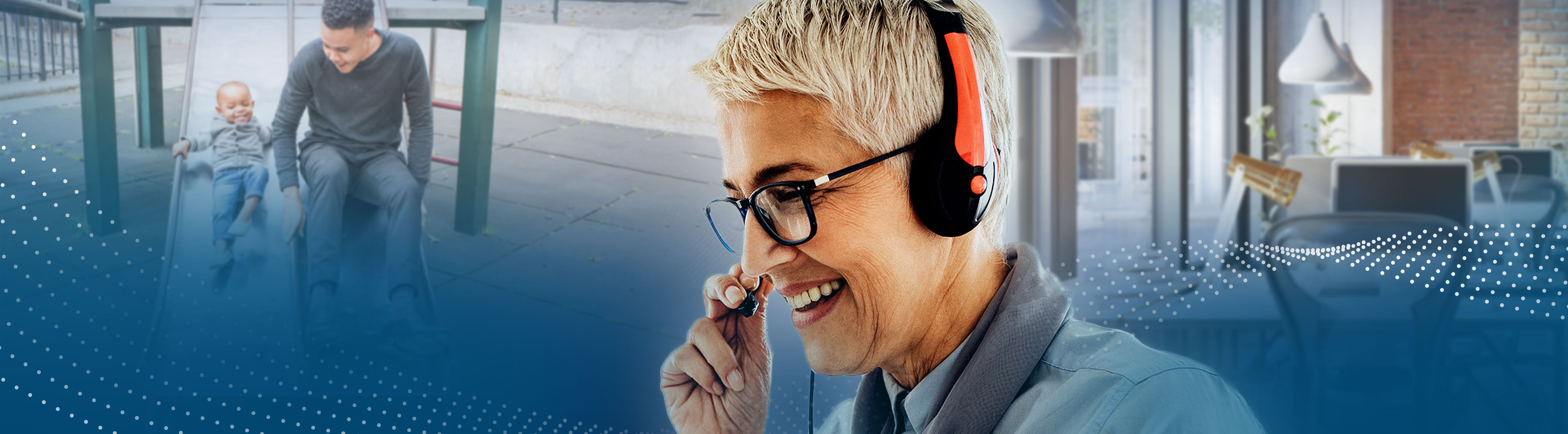Support Representative with headset