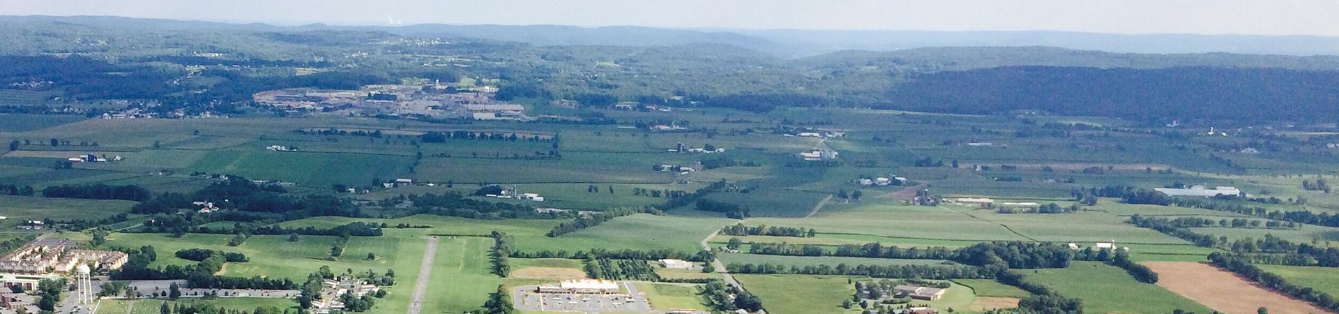 Rural landscape in Pennsylvania