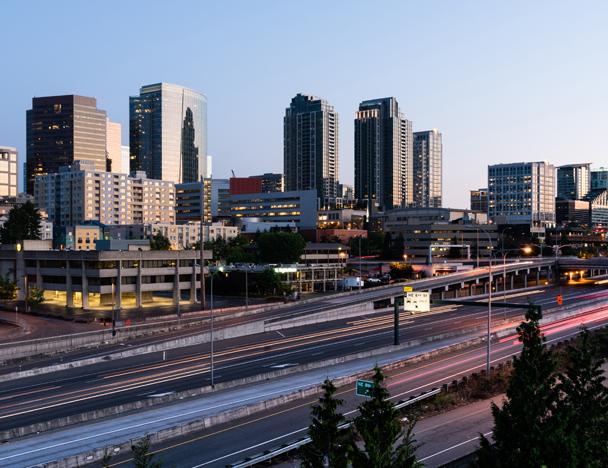 Bellevue, WA skyline