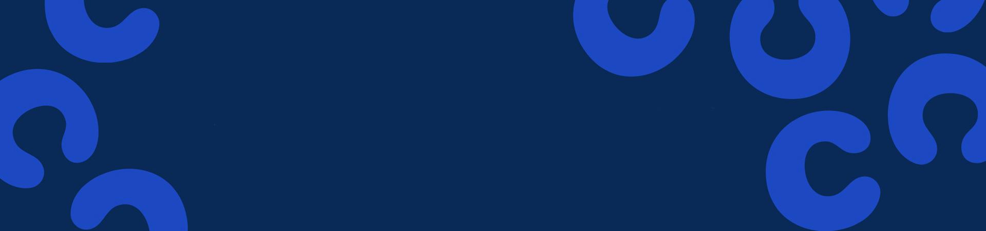 A blue banner image