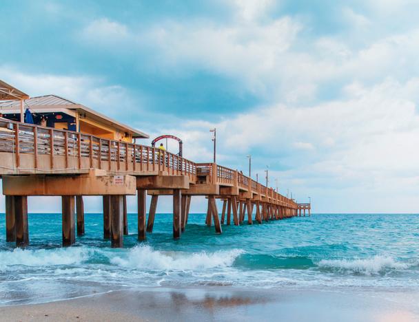 A pier in Dania Beach, FL
