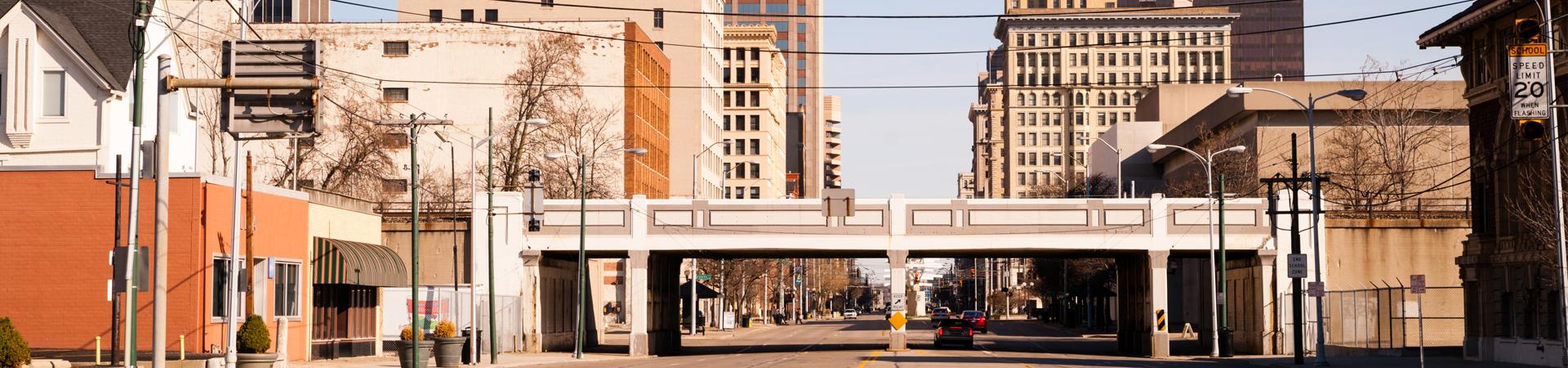 City street in Dayton, OH