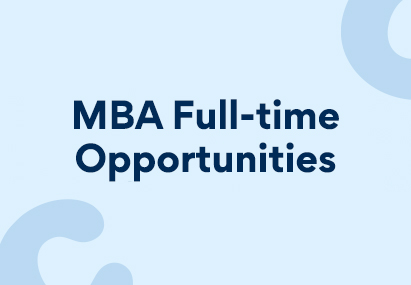 """A banner image stating """"MBA Full-time Opportunities"""""""