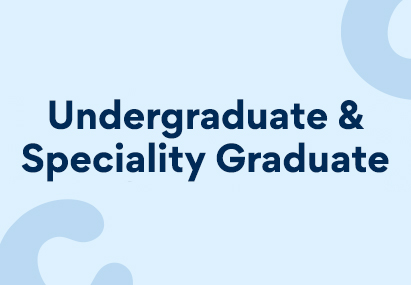 """A banner image stating """"Undergraduate & Specialty Graduate"""""""