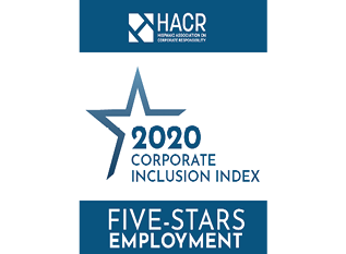 HACR 2020 Corporate Inclusion Index Five Stars Employment Award