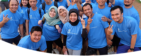 Cigna Indonesia team having a little fun.