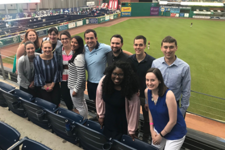Bloomfield interns enjoying a day out to the ballgame