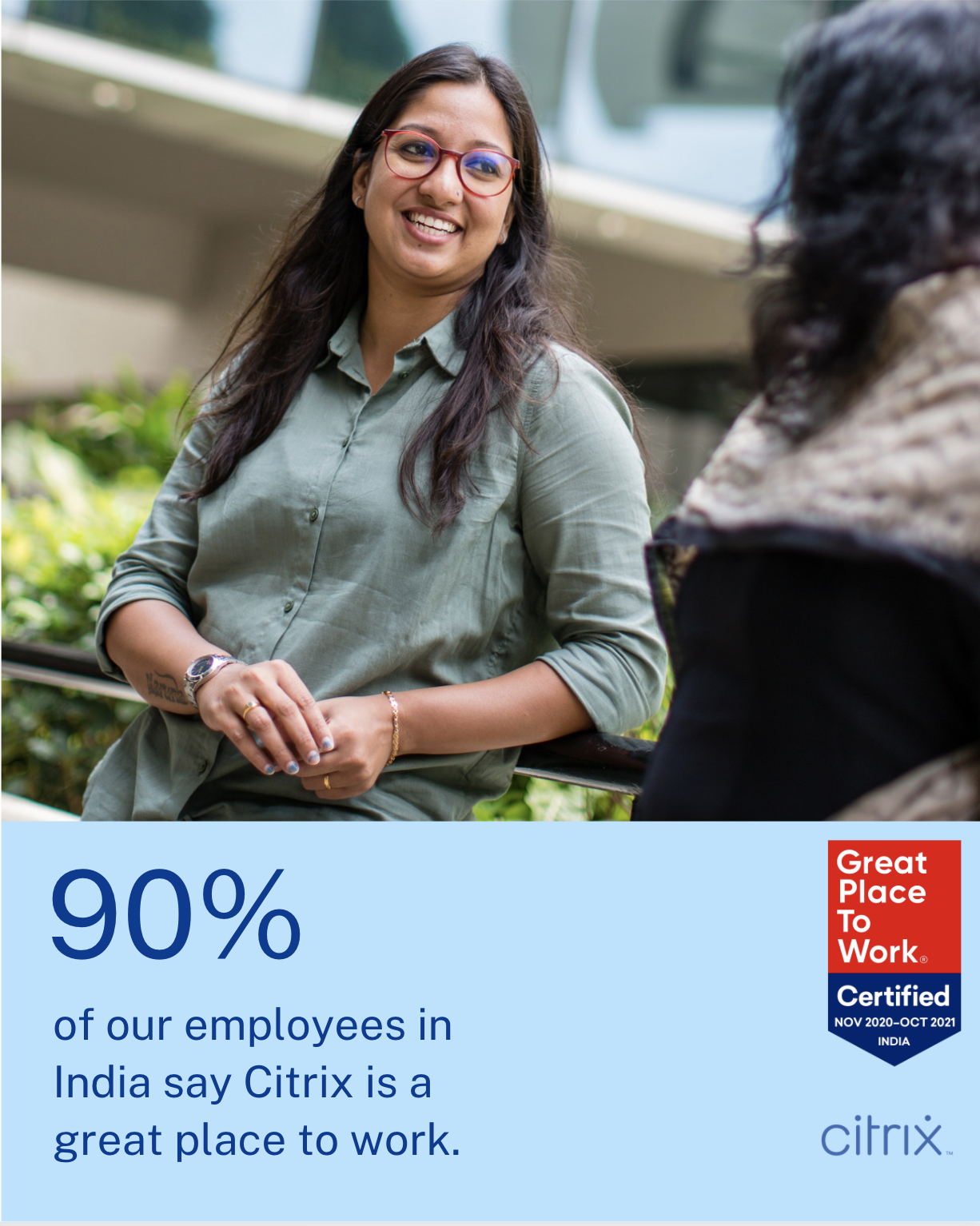90% of our employees in India say Citrix is a great place to work