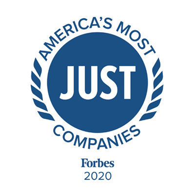 Awarded one of America's Most Just Companies by Forbes