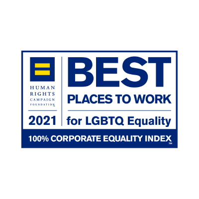 Best Place to Work for LGBTQ Equality from the Human Rights Campaign 2021