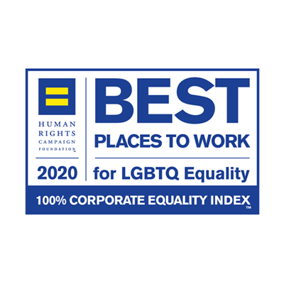 Certified Best Place to Work for LGBTQ Equality from the Human Rights Campaign