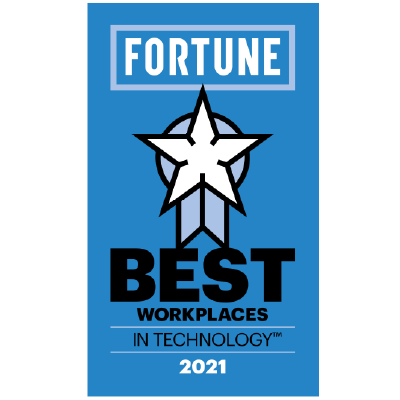 One of the 30 Best Workplaces in Technology by Fortune