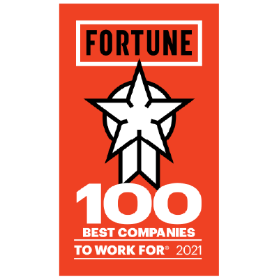 One of the 100 Best Companies to Work For by Fortune