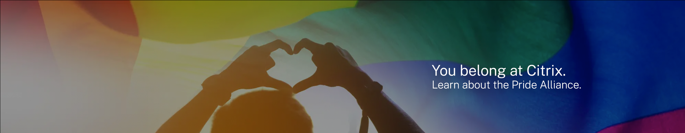 You Belong at Citrix. Learn about the Citrix Pride Alliance.