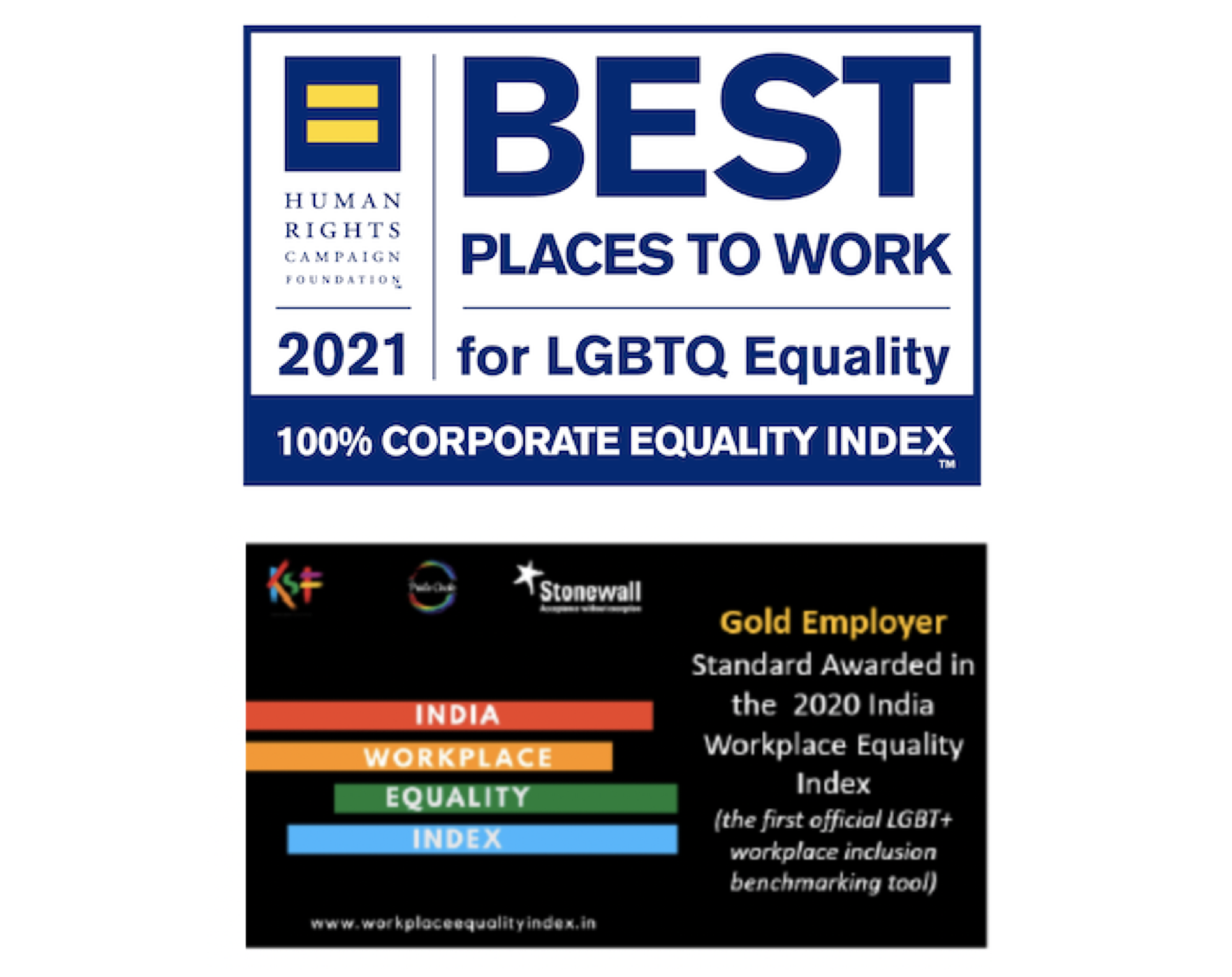 Awards for being a Best Place to Work for LGBTQ Equality