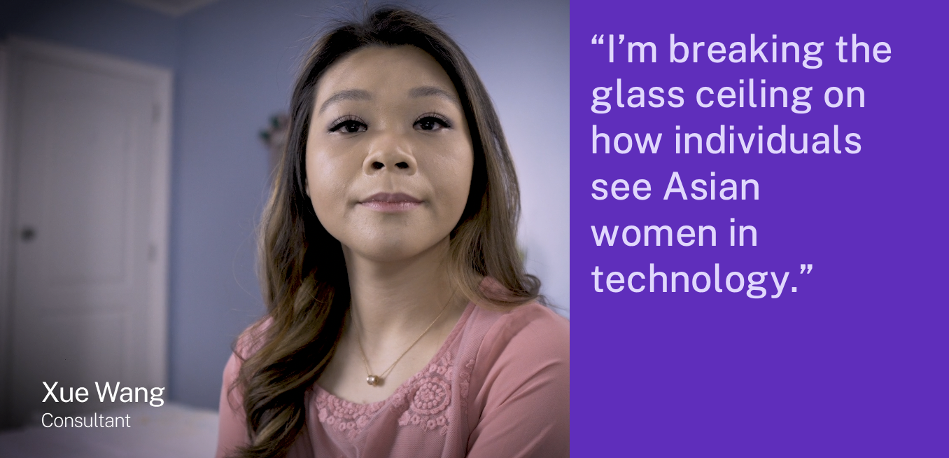 """""""I'm breaking the glass ceiling on how individuals see Asian women in technology."""""""