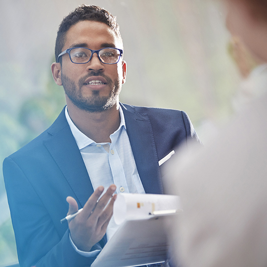 Candidate interviewing with hiring manager