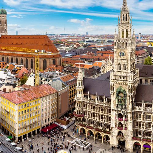 City view of Munich, Germany