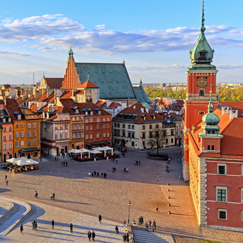 view of Warsaw Poland