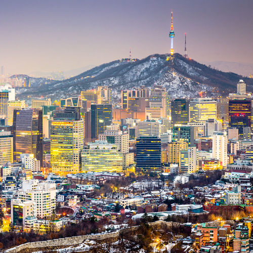 skyline view of korea