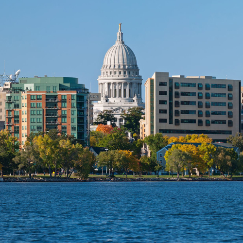 City view of Madison, WI