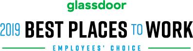 Glassdoor best places to work 2019 logo