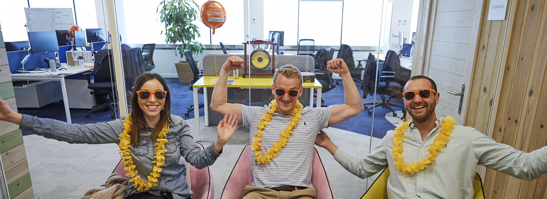 3 people in BCN office