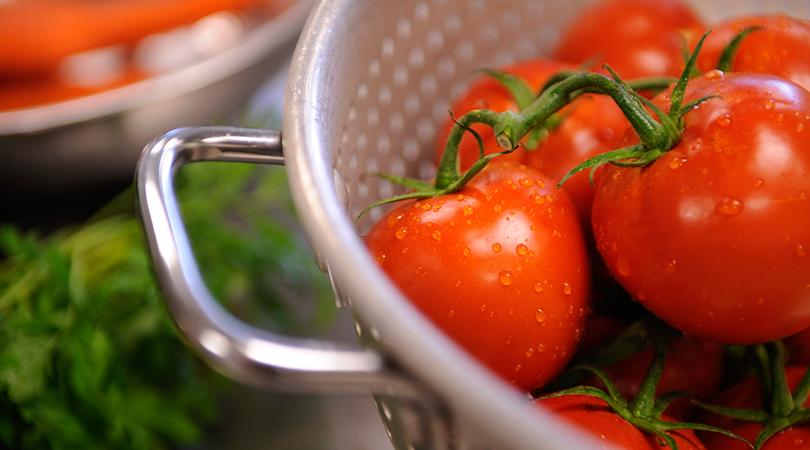 Freshly washed tomatoes