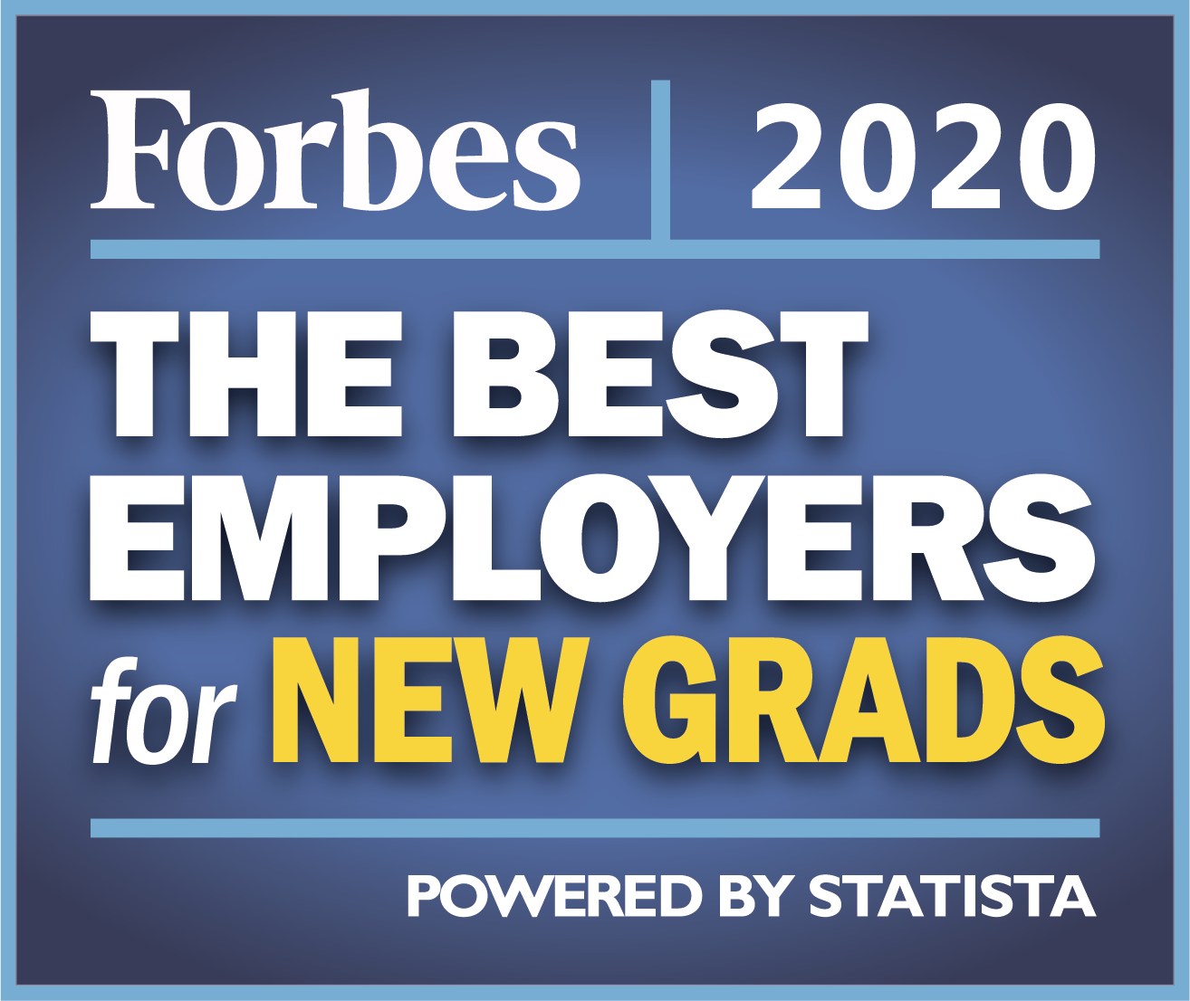 Forbes Best Employers for New Grads 2020