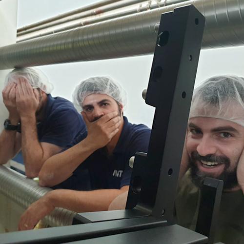 "AVT employees making the ""Hear no evil, See no evil, Speak no evil"" faces"