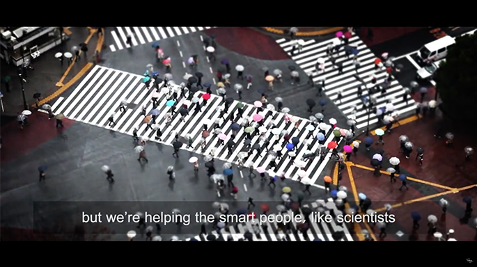 Picture of People Crossing Street - YouTube Video