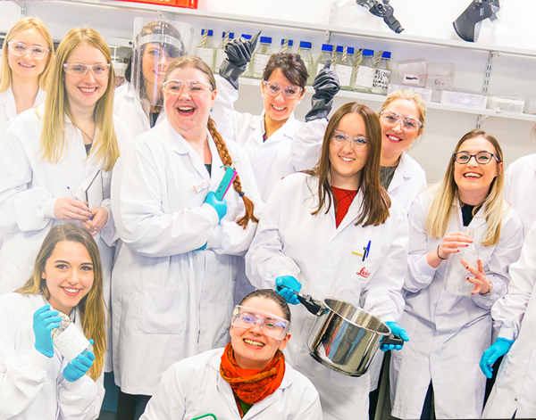 Photograph of Leica Biosystems associates in lab