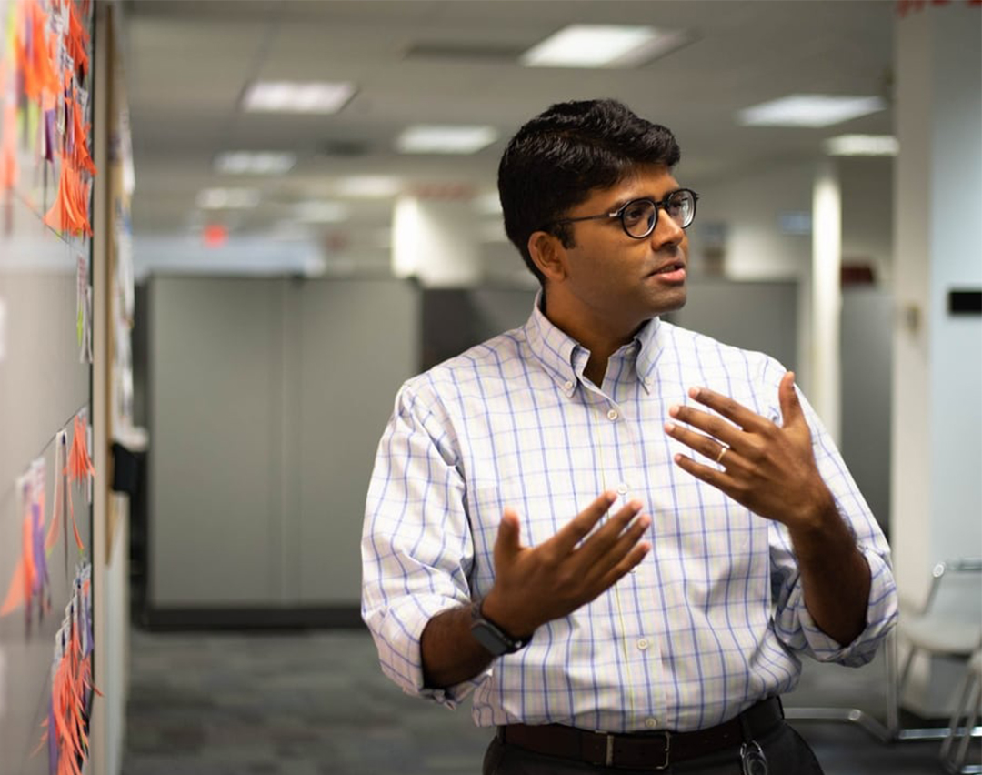 Danaher Digital associate presenting in a meeting