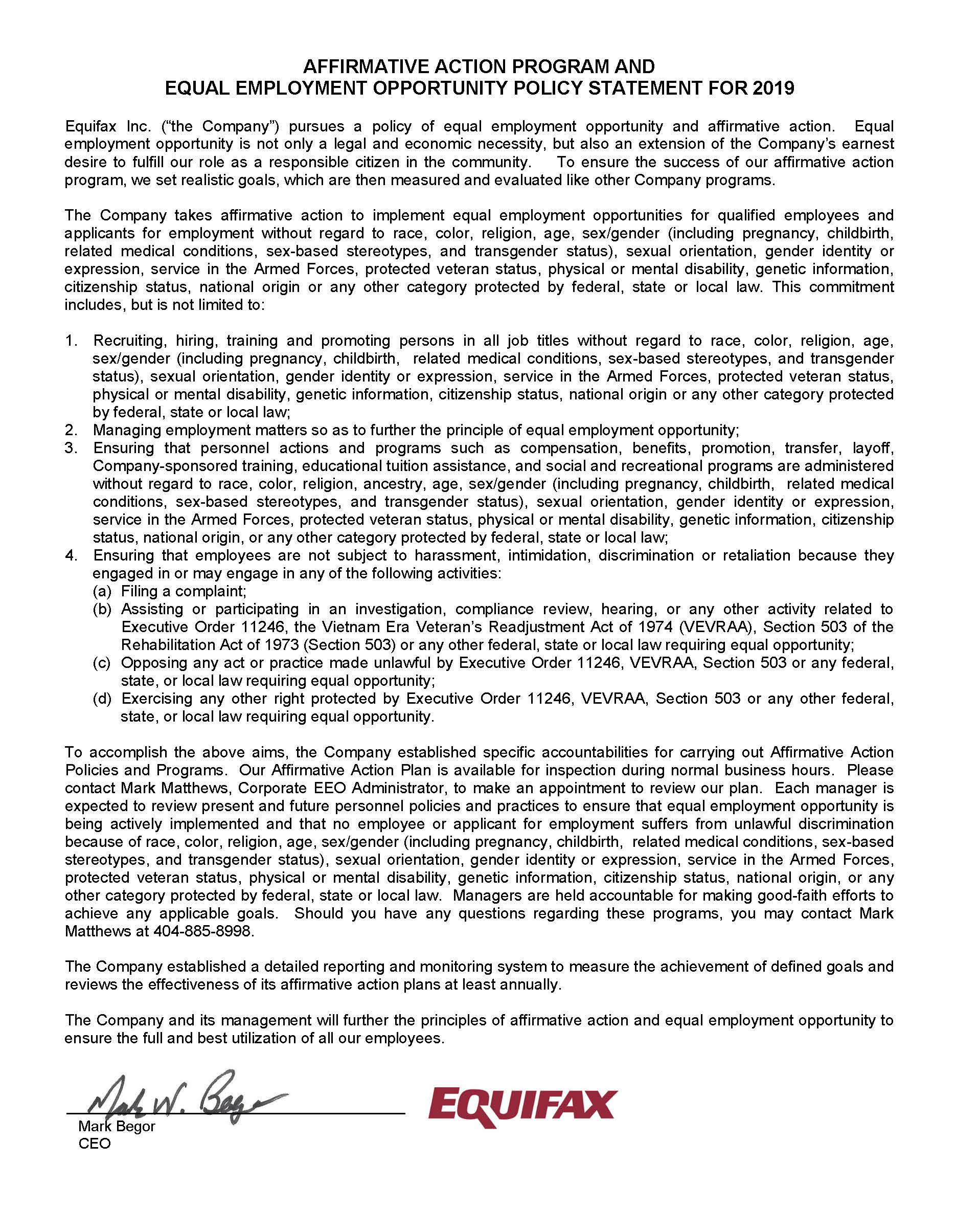 EEO Statement