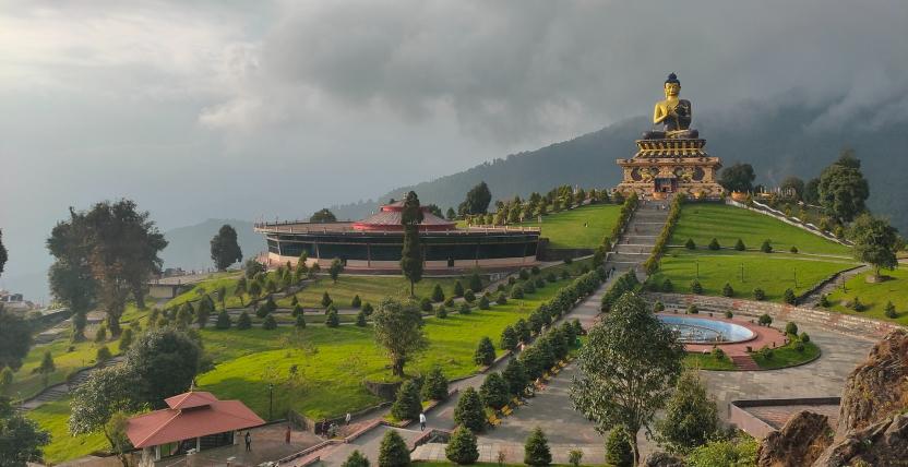 Gardens with Buddha statue