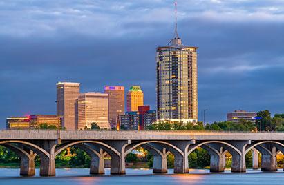 Buildings in Tulsa, Oklahoma, skyline